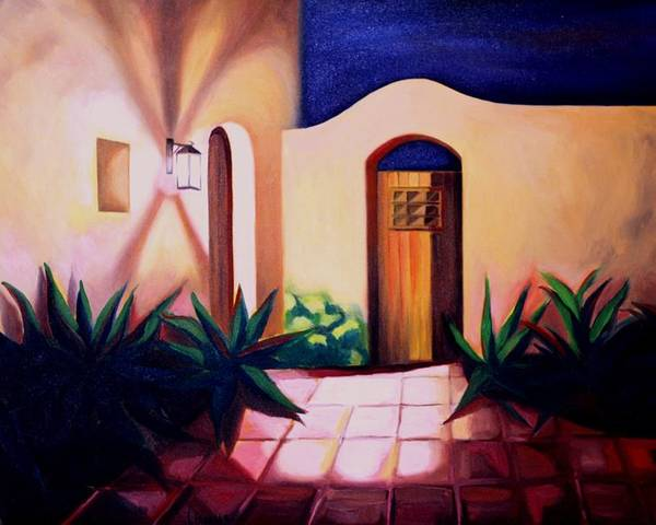 Porch Light Poster featuring the painting Sergio's Favorite by Lety Garcia