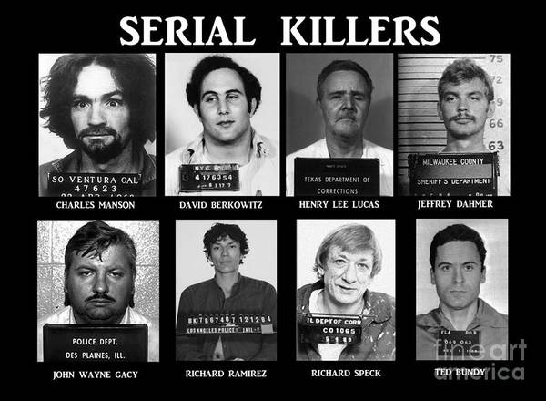 Paul Ward Poster featuring the photograph Serial Killers - Public Enemies by Paul Ward