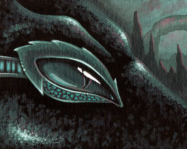 Sea Serpent Poster featuring the painting Serpent Of The Coral Gardens by Elaina Wagner
