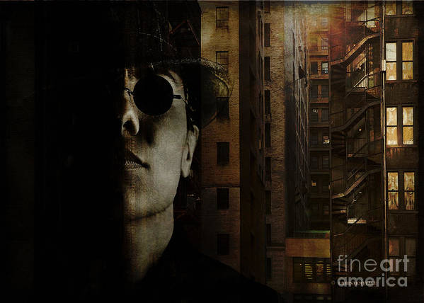 Photographic Art Poster featuring the digital art Shades by Chris Armytage