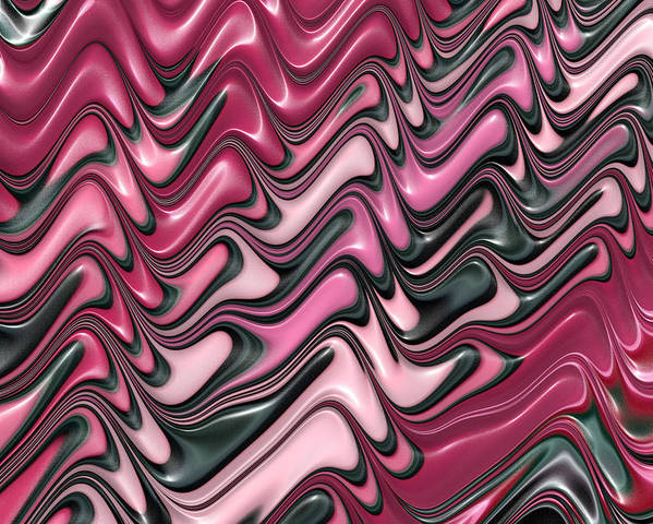 Pink Poster featuring the digital art Shades Of Pink And Red Decorative Design by Matthias Hauser