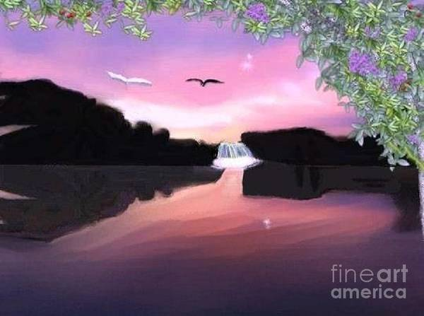 Shadows Poster featuring the digital art Shadow Lake by Rana Adamchick