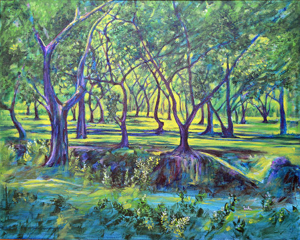 Landscape Poster featuring the painting Shadows At Noon - Indian Landscapes by Usha Shantharam