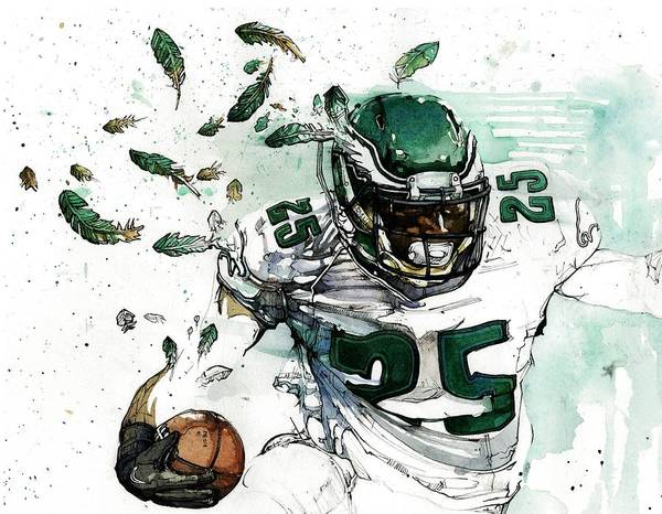 Lesean Poster featuring the painting Shady Mccoy by Michael Pattison