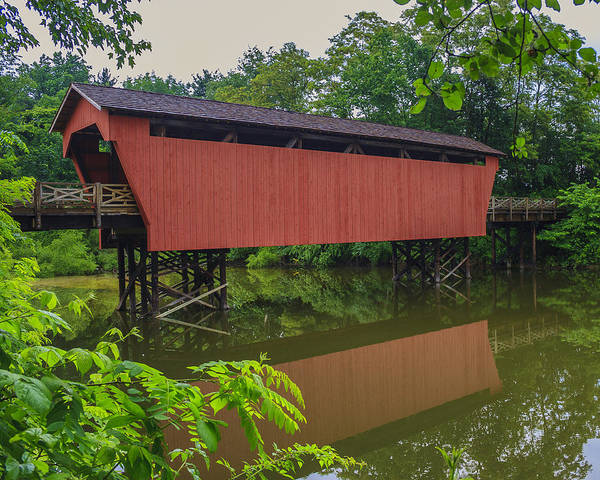 Ohio Poster featuring the photograph Shaeffer Or Campbell Covered Bridge by Jack R Perry