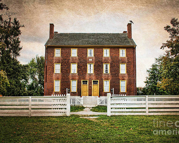 Authentic Poster featuring the photograph Shaker Village by Darren Fisher