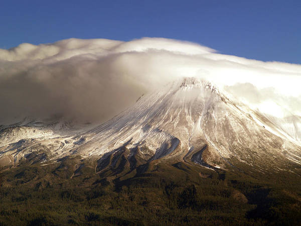 Mt Shasta Poster featuring the photograph Shasta Storm by Bill Gallagher