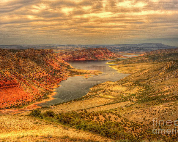 Flaming Gorge Poster featuring the photograph Sheep Creek Bay by Dennis Hammer