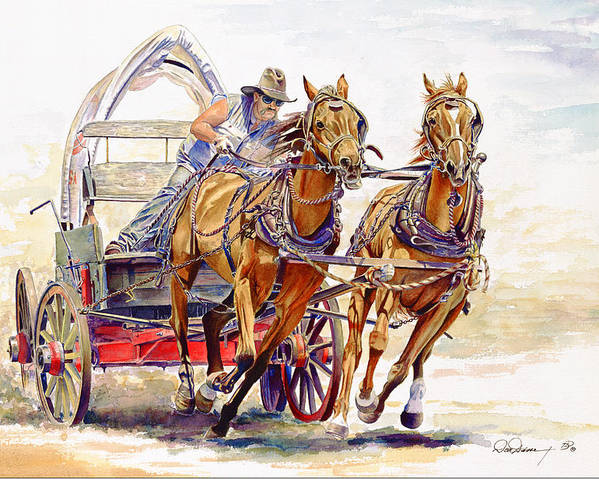 Chuck Poster featuring the painting Sheer Horsepower by Don Dane