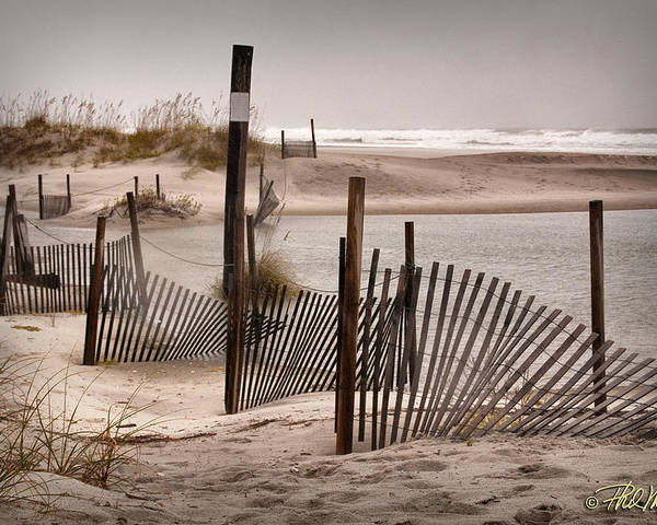 Seascape Poster featuring the photograph Shell Island Hurricane Sandy by Phil Mancuso