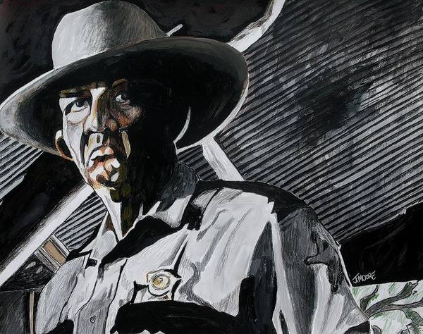 Sheriff Poster featuring the painting Sheriff Hoyt by Jeremy Moore