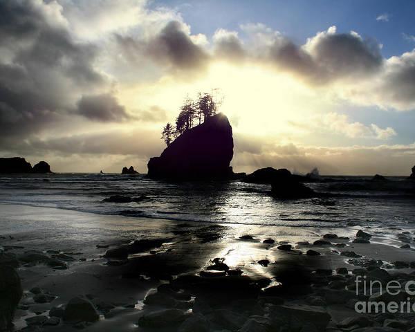 Ocean Poster featuring the photograph Shipwreck Rock by Deena Otterstetter