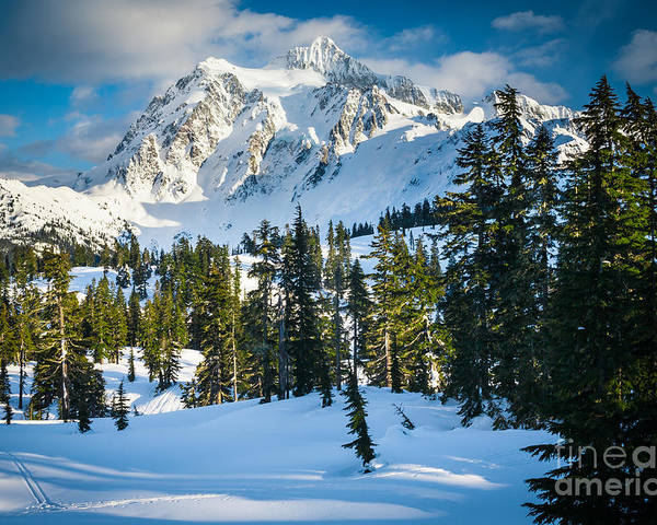 America Poster featuring the photograph Shuksan Winter Paradise by Inge Johnsson