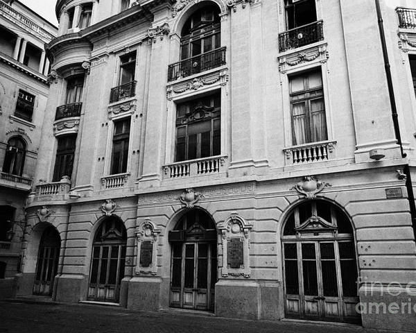 Santiago Poster featuring the photograph side of Santiago Stock Exchange building Chile by Joe Fox