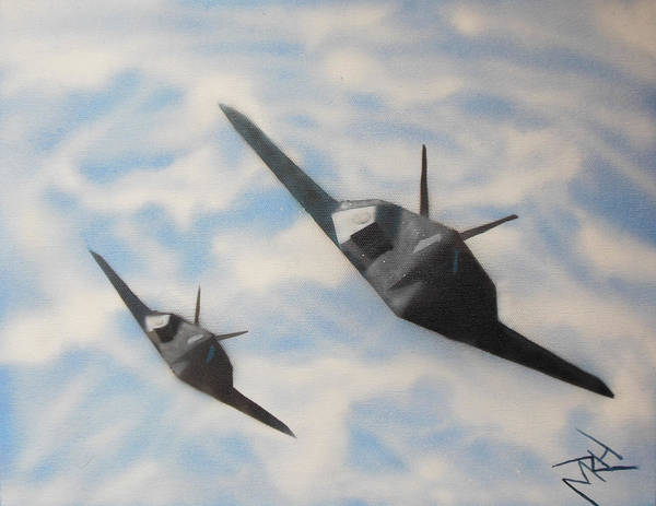Aircraft Poster featuring the painting Silent But Deadly by Michael Hall