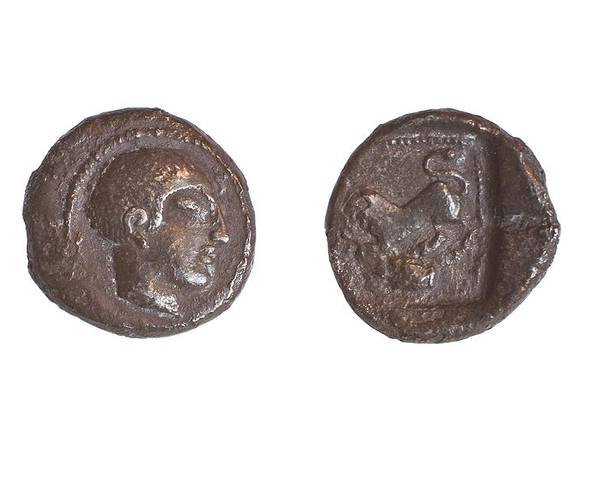 Ancient Poster featuring the photograph Silver Drachm 3.4 Gr From Philstia by Science Photo Library