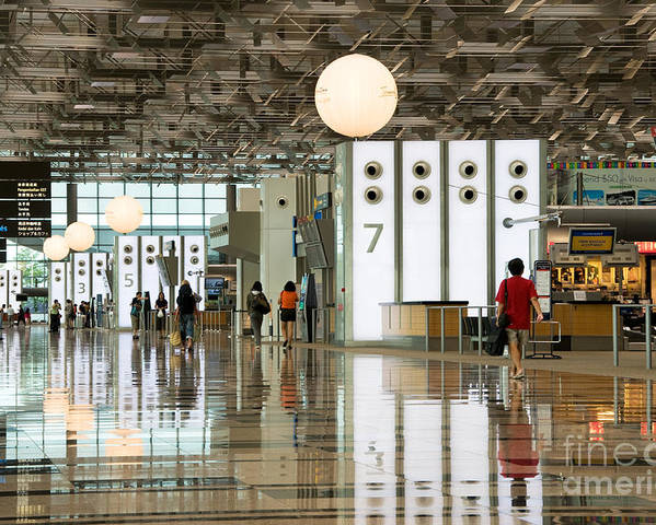 Singapore Poster featuring the photograph Singapore Changi Airport 02 by Rick Piper Photography