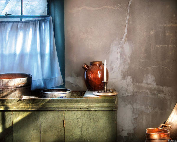 Savad Poster featuring the photograph Sink - The Jug And The Window by Mike Savad