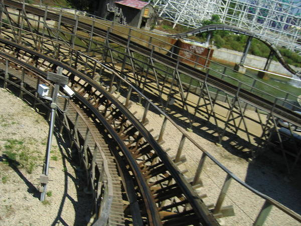 Six Poster featuring the photograph Six Flags America - Roar Roller Coaster - 12124 by DC Photographer
