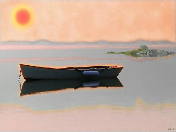 Landscape Poster featuring the digital art Skiff by Thomas Rehkamp