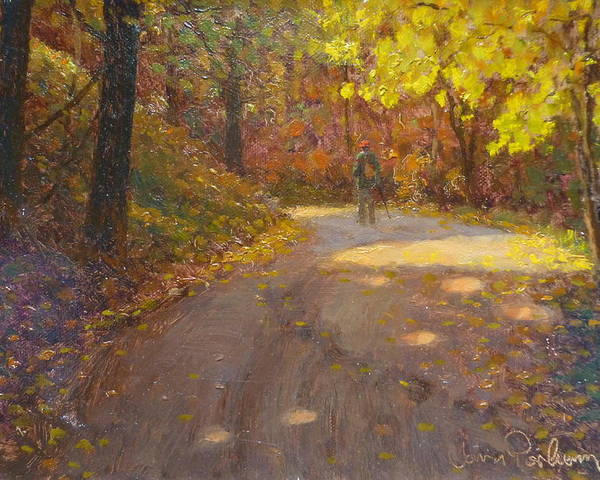 Autumn Poster featuring the painting Skippers Autumn by Terry Perham