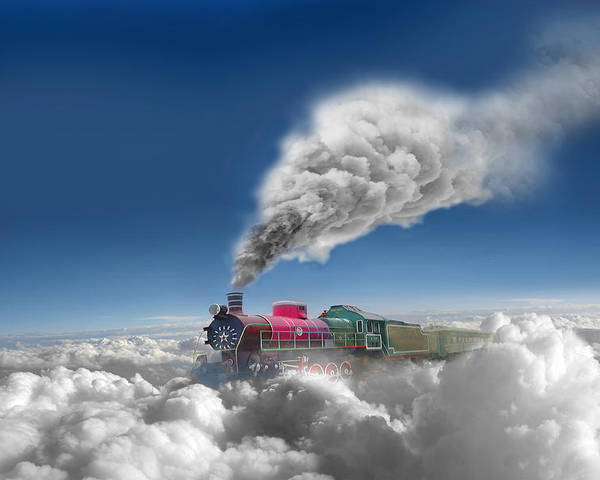 Clouds Poster featuring the photograph Sky Express by Igor Zenin