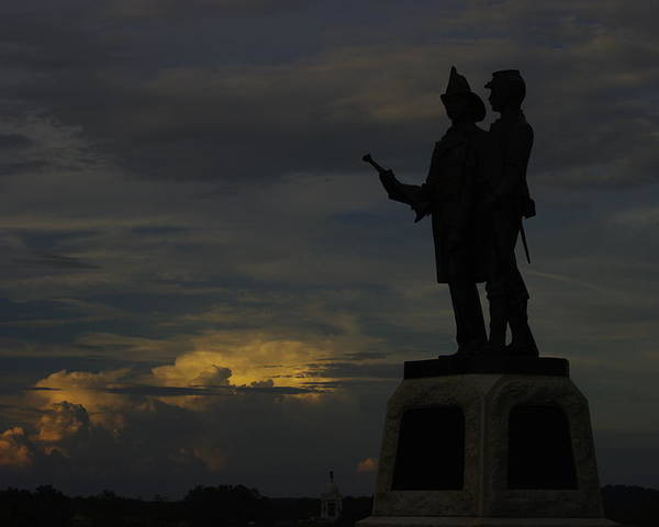 Civil War Poster featuring the photograph Sky Fire - 73rd Ny Infantry 4th Excelsior 2nd Fire Zouaves - Summer Evening Thunderstorms Gettysburg by Michael Mazaika