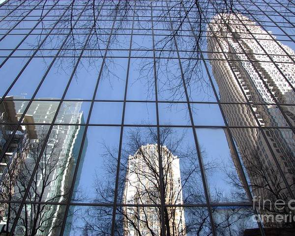 Photography Poster featuring the photograph Skyscraper Reflections - Charlotte Nc by Shelia Kempf