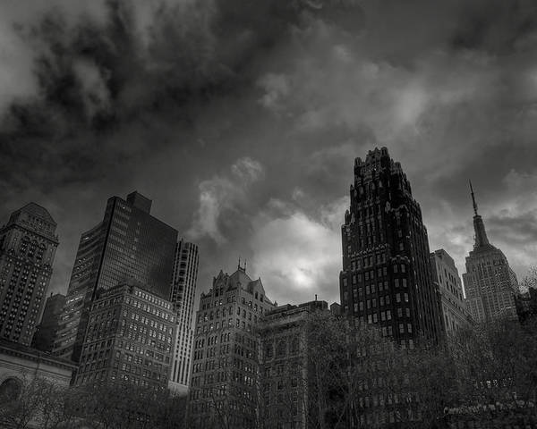 Building Poster featuring the photograph Skyscrapers by Mike Horvath