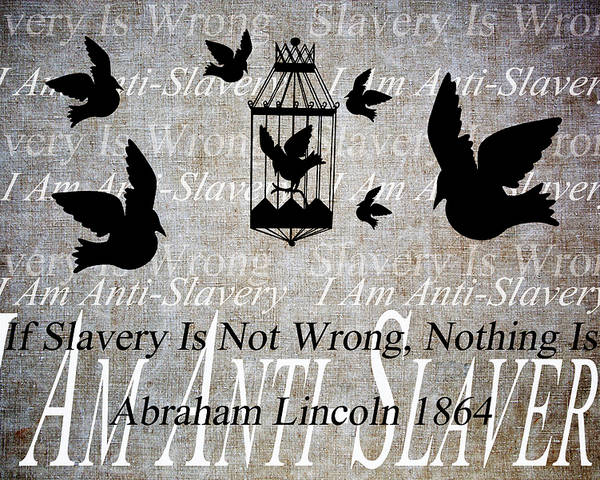 Texture Poster featuring the digital art Slavery by Angelina Vick
