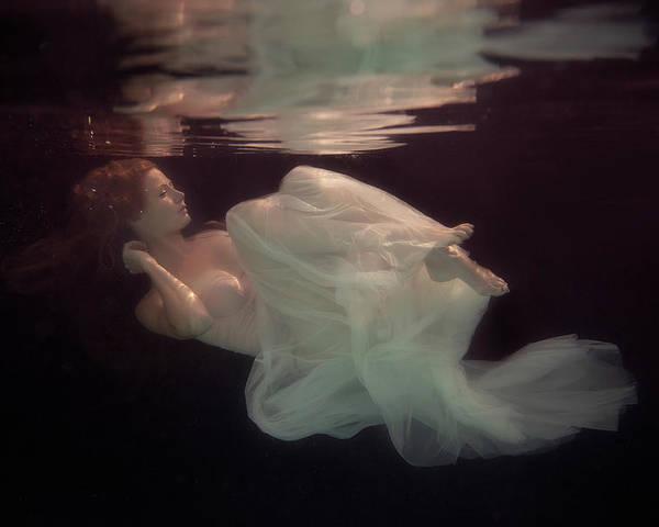 Underwater Poster featuring the photograph Sleeping Beauty by Gabriela Slegrova