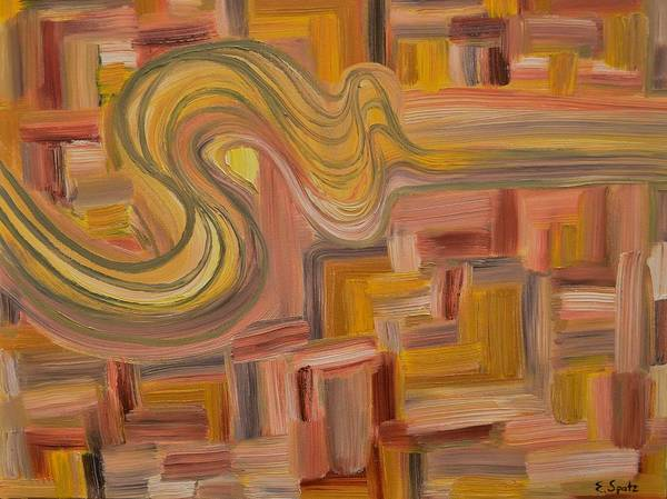 Abstract Poster featuring the painting Smoke by Evelyn SPATZ
