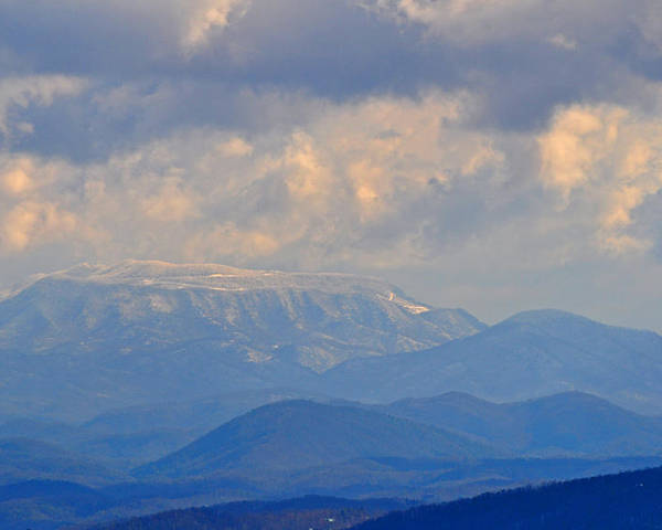 Smokey Mountains Poster featuring the photograph Smokey Blue Morning by Peter McIntosh
