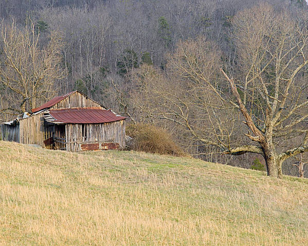 Barn Poster featuring the photograph Smoky Mountain Barn 9 by Douglas Barnett