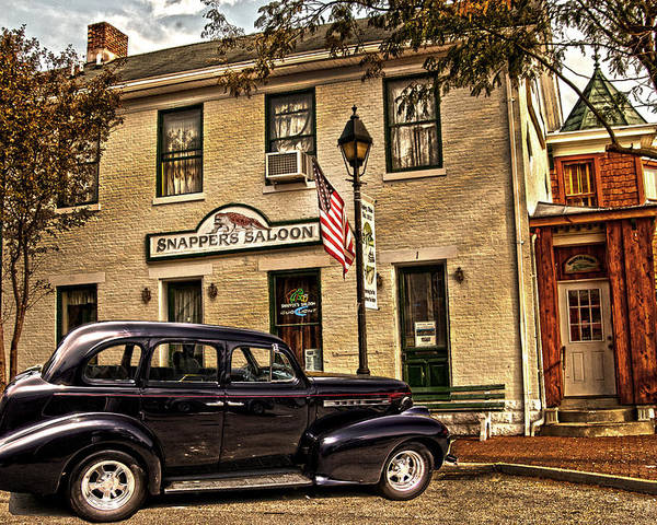 Snappers Saloon Poster featuring the photograph Snappers Saloon Ripley Ohio by Randall Branham