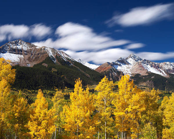 Colorado Landscapes Poster featuring the photograph Sneffels Winds by Darren White