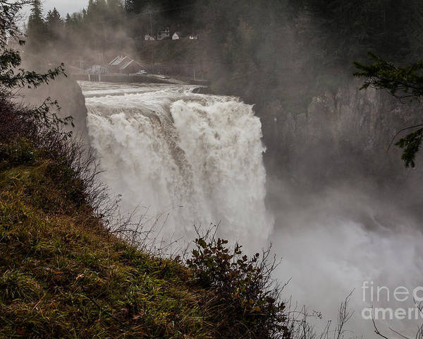 Snoqualmie Falls Poster featuring the photograph Snoqualmie Falls by Webb Canepa