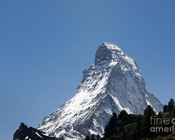 Mountains Poster featuring the photograph Snow-capped Mountain by Mats Silvan