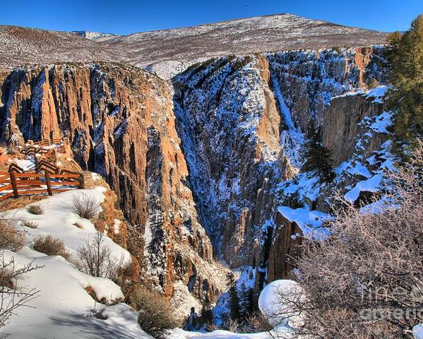 Black Canyon Of The Gunnison Poster featuring the photograph Snow In The Black Canyon by Adam Jewell