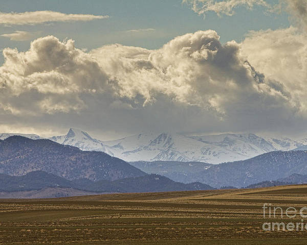 Rocky Mountains Poster featuring the photograph Snowy Rocky Mountains County View by James BO Insogna