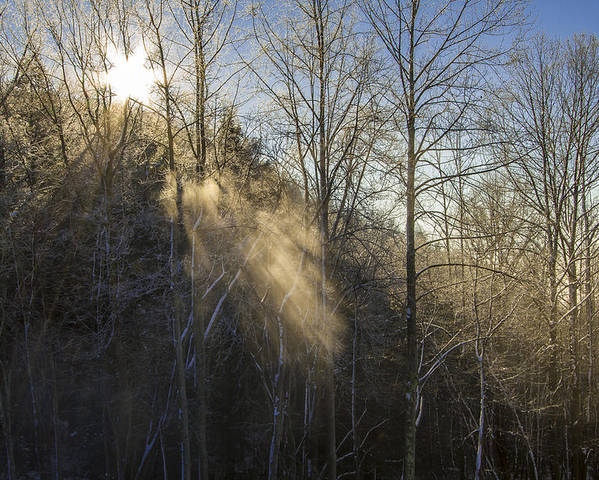 Bays Mountain Poster featuring the photograph Snowy Sun Rays by Jay Huron