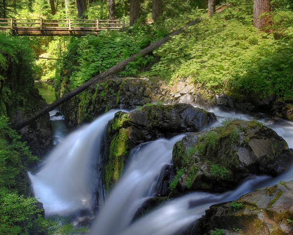 Waterfall Poster featuring the photograph Sol Duc Falls by John Absher