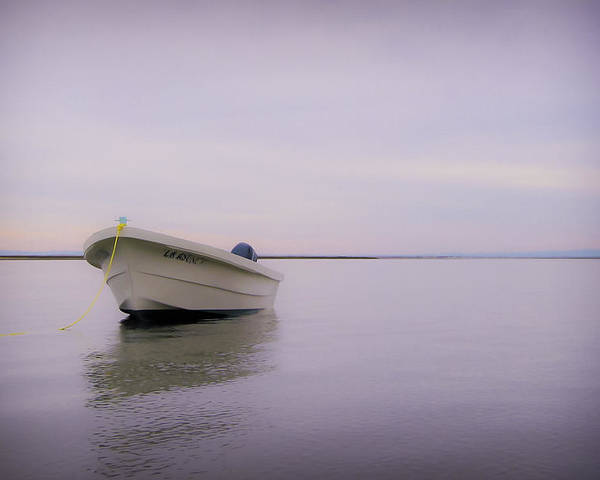 3scape Photos Poster featuring the photograph Solitary Boat by Adam Romanowicz