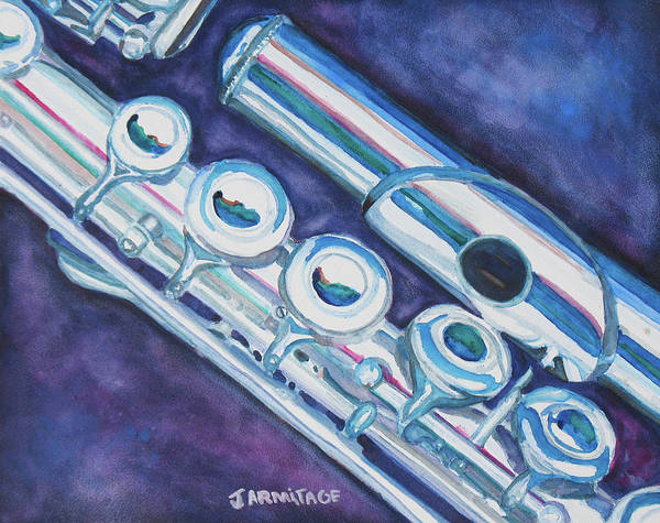 Flute Poster featuring the painting Some Assembly Required by Jenny Armitage