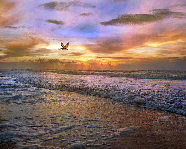 Topsail Poster featuring the photograph Soothing Sunrise by Betsy Knapp