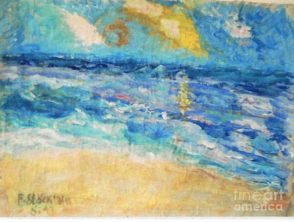Seascape Poster featuring the painting South Of France by Fereshteh Stoecklein