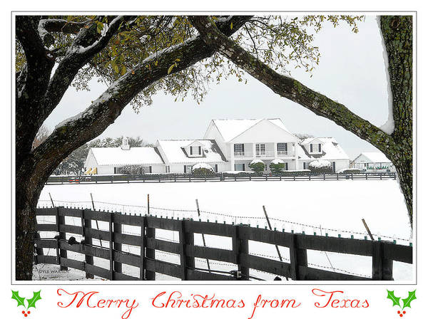 Southfork Poster featuring the photograph Southfork Christmas by Dyle  Warren