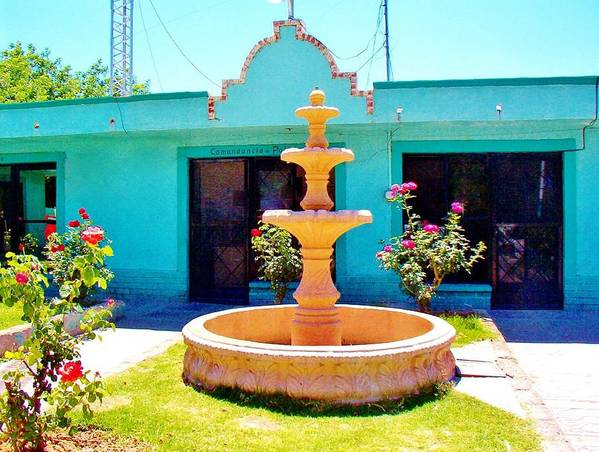 Adobe Poster featuring the photograph Spanish Water Fountain De San Francisco Conchos by Peggy Leyva Conley