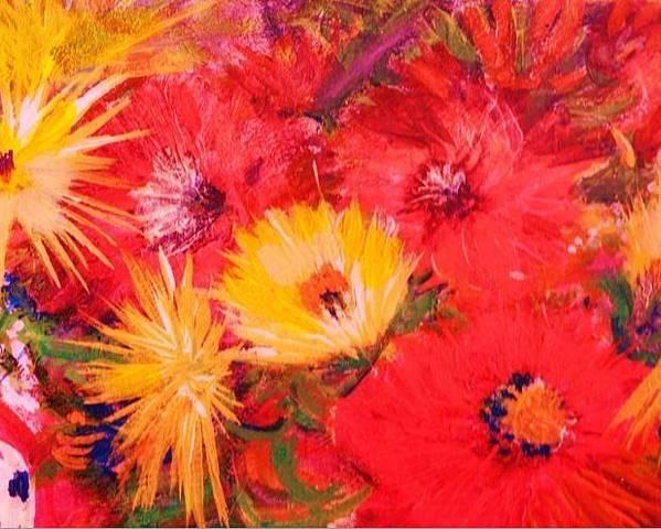 Splashy Poster featuring the painting Splashy Floral II by Anne-Elizabeth Whiteway