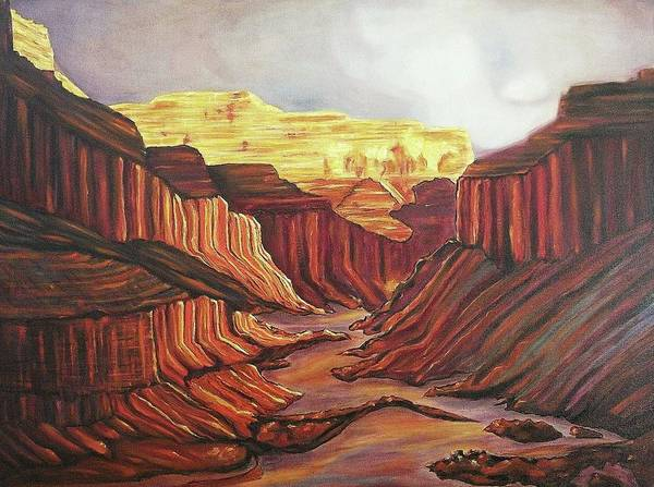Phoenix Poster featuring the painting Splendor by Suzanne Marie Leclair